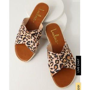 Lulu's leopard print sandals